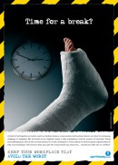 Slips trips and falls safety poster
